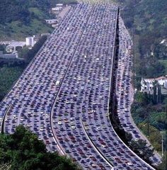 The world's longest traffic jam took place in Beijing, China. It was over 60 miles long and lasted 11 days!