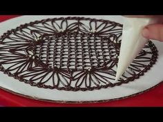 ▶ ANOTHER VIDEO FROM JULIA M USHER: How to Make Chocolate Lace Doilies, a great way to dress up simple desserts!