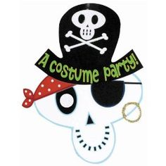 party planning fun celebrate decorating decor events happy birthday enjoy kids children cute  invite Amazon.com: Amscan Skeleton Pirate Halloween Invitations 8/pkg: Toys & Games