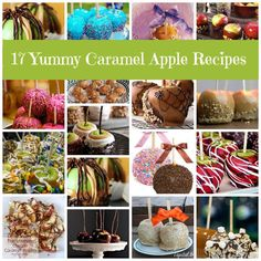 Caramel Apple Recipes - a great collection - you're sure to find one you'll want to make this fall!