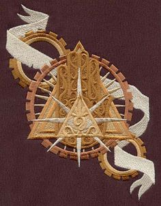 UrbanThreads' Steampunk Alchemy designs are really beautiful, but I think this one is the best of all. * * * Steampunk Alchemy Eye of Providence design (UT5174) from UrbanThreads.com