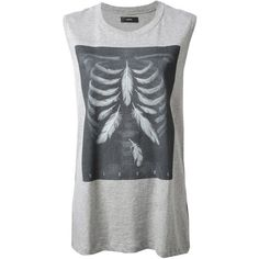 Diesel T-Triton-D T-Shirt (£38) ❤ liked on Polyvore featuring tops, shirts, tank tops, t-shirts, tanks, grey, grey top, gray shirt, cotton shirts and gray top