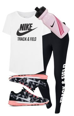 "Nike Track And Field - ""Nike Track And Field"" by alannah-reilly ❤ liked on Polyvore featuring NIKE"