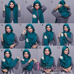 Hijab tutorial, good to know, there are several cultures that require coverage in churches and in public.