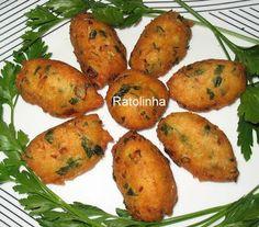 Ratolinha - Receitas de Culinária, Ponto de cruz, Fotos...: Bolinhos / Pastéis de Bacalhau