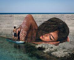 """Mi piace"": 18.6 mila, commenti: 199 - HULA | sean yoro (@the_hula) su Instagram: ""Had fun painting this one in beautiful Porto Cesareo, Italy."""