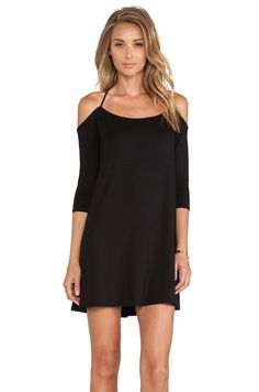 Black Off The Shoulder Cross Back Dress