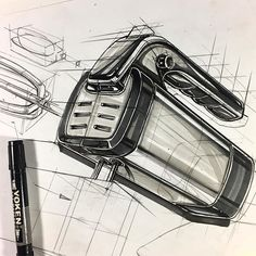 product design sketch marker rendering , object ; power mix, mixer. #markerrendering #tutorial #sketch #marker #mix #mixer behance/irfancifci #Goodnight