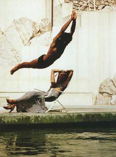 Jumping, Part 1: Helmut Newton, Grand Hotel du Cap, Antibes, Late 1970s