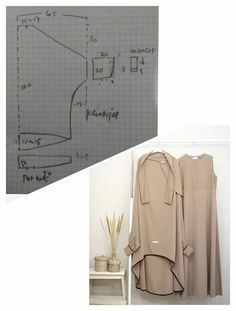 Drape Skirt Pattern, Abaya Pattern, Dress Sewing Patterns, Clothing Patterns, Niqab Fashion, Baby Dress Design, Hijab Dress, Sewing Techniques, Sewing Tutorials