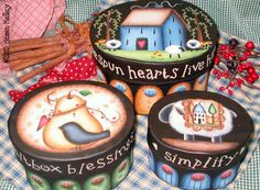 Homespun Tins ePacket [] - $6.00 : Puddles of Paint Shop, Patterns for the Decorative Painter