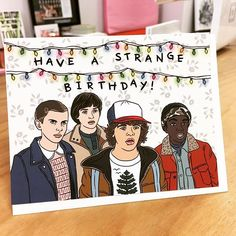 L'Eggo my birthday cocktail! Stranger Things card designed by The Found in Chicago, IL.