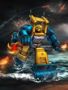 Autobot Seaspray Artwork From Transformers Legends Game