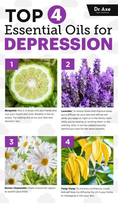 Top four essential oils for depression - Dr. Axe http://www.draxe.com #health #holistic #natural
