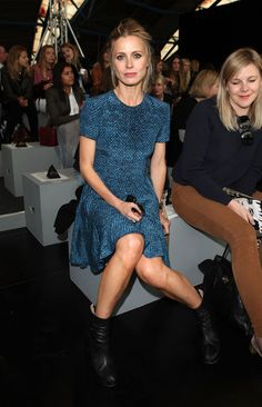 b0bb20e570c0 Laura Bailey - Celebrities On The Front Row at London Fashion Week Spring Summer  2012