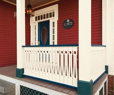 See how the TOH TV team created a railing of flat-sawn balusters that packs a big visual punch on the front porch of our 1872 Italianate Project House in Arlington, MA. | Photo: Anthony Tieuli | thisoldhouse.com