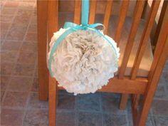 DIY Tissue Pomander :  wedding aisle decor diy pomanders tiffany blue tissue pomanders Firstpomander