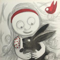 I Got This, Bunny, Stretched Canvas, Art Oil, Art Journaling, Creative, Pretty, Rabbit, Handmade