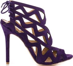 JustFab Purple Sanna Caged Sandal $54.99 #shoes #heels - CLICK HERE for more: http://www.needcuteshoes.com/products/justfab-purple-sanna-caged-sandal/