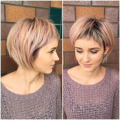 Short hairstyles for fine hair are one of the hairstyles that women often think of, but they don't dare to try them. There are many short and pleasant hairstyles for fine hair. Fine hair is o… Short Hairstyles Fine, Short Shag Hairstyles, Haircuts For Fine Hair, Haircuts With Bangs, Vintage Hairstyles, Cool Hairstyles, Short Haircuts, Hairstyle Short, Hairstyles 2016