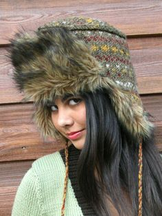 5a2d44c7540 Appropriately called The Trapper Hat!! Would I wear it  Not unless