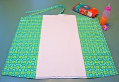 I adore this handmade changing pad, it rolls up tiny and is super convenient. I think I'll make two!