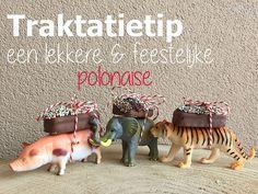 Een feestelijke polonaise, van kleine Actiondiertjes met een discodip Mily Way op hun rug. Kleine moeite, SuperFeestelijk resultaat!