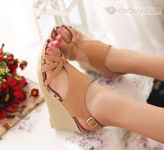 Shop 2013 Bohemian PU Upper Wedge Heels Peep Toe Women Sandals on sale at Tidestore with trendy design and good price. Come and find more fashion Sandals here. Sandals For Sale, Fashion Sandals, Boots Online, Womens Shoes Wedges, Wedge Heels, Peep Toe, Fashion Accessories, Women Sandals, Ankle Boots