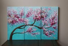 Items similar to painting -acrylic painting- landscape painting-flower painting-blossoms ,blossoming flower--blossoming tree ,cherry blossom,tulip,floral on Etsy Acrylic Painting Canvas, Acrylic Art, Abstract Canvas, Canvas Art, Your Paintings, Landscape Paintings, Original Paintings, Abstract Paintings, Cherry Blossom Painting