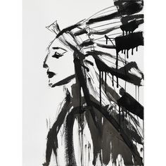 Chief, 2013 Unframed 20″W X 30″H  Printed black and white gamut on 110 pound linen texture paper.
