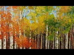 landscape paintings by Tatiana Iliina with palette knife (part1) - YouTube