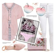 """""""Pink Roses"""" by monmondefou ❤ liked on Polyvore featuring Summit, Summer, Pink and bikini"""