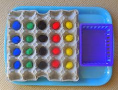 Our Worldwide Classroom: Bambino Academy Basics - Eggsellent Egg Trays - Recognising Colours