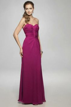 A-line Sweetheart Ruched Floor Length Bridesmaid Dress