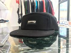 Thrasher 5 Panel Hat (Black) This five-panel cap features a printed Thrasher label on the front an adjustable buckle strap on the back and is constructed from heavyweight canvas for durability. One size fits most. @8five2shop HKD 260