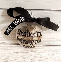 Thank you for helping me grow Teacher Ornament. Personalized Christmas gift for teacher. Preschool Excited to share this item from my shop: Thank you for helping me grow Teacher Ornament. Personalized Teacher Gifts, Personalized Christmas Ornaments, Diy Christmas Ornaments, Christmas Decorations, Easy Diy Christmas Gifts, Teacher Christmas Gifts, Preschool Christmas, Christmas Thank You Gifts, Christmas Ideas