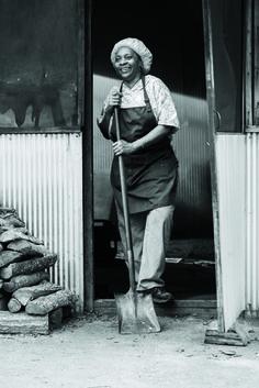 Pit master Helen Turner of Helen's Bar-B-Q in Brownsville, Tennessee.