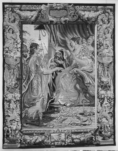 Cleopatra Asked to Pay Tribute to Rome from a set of The Story of Antony and Cleopatra, Designed by Justus van Egmont (Flemish, Leiden 1601–1674 Antwerp), Weaving workshop directed by Jan van Leefdael (Brussels, active 1644–60), The Metropolitan Museum of Art