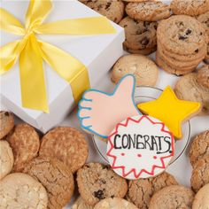 Lady Fortunes Congratulations Signature Cookie Gift Box - 24 Cookies | FREE SHIPPING