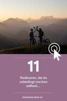 Ob Mountainbike oder E-Bike: Wir haben die richtige Tour für jeden Geschmack. Diese Radtouren für deinen Urlaub in Österreich werden dich bestimmt überraschen. #urlaub #österreich #urlaubinösterreich #Radfahren #radtour #oberösterreich Reisen In Europa, Movies, Movie Posters, Bike Rides, Travel Report, Road Trip Destinations, Films, Film Poster, Cinema