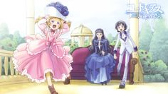Nunnally vi Britannia, Marianne vi Britannia, and Lelouch vi Britannia (Code Geass: Lelouch of the Rebellion) - Look at Nunnally closely: running around, eyes wide open, happy and smiling...