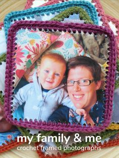 My Family and Me Crochet Framed Photographs - Little Worlds Creative Activities For Kids, Creative Arts And Crafts, Rainy Day Activities, Indoor Activities, Fun Crafts, Crafts For Kids, Creative Kids, Presents For Women, Fathers Day Crafts