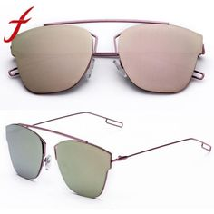 cbd0e948e61 Fashion design women sunglasses metal reflection mirror frame from lens sunglasses  glasses gafas de sol mujer