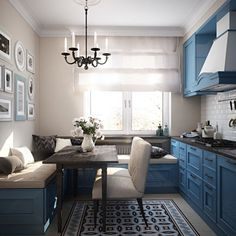 Having small living room can be one of all your problem about decoration home. To solve that, you will create the illusion of a larger space and painting your small living room with bright colors c… Small Living Room Layout, Small Living Rooms, Living Room Decor, Kitchen Interior, Kitchen Decor, Apartment Kitchen, Kitchen Colors, Apartment Living, Room Interior