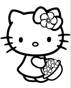 Top 30 Hello Kitty Coloring Pages To Print http://freecoloring-pages.org/top-30-hello-kitty-coloring-pages-to-print/