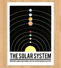 The Solar System Art Print by ISCREENYOUSCREEN on Scoutmob Shoppe