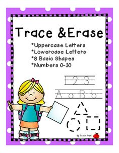 Bright, fun, and developmentally appropriate letter, number, and shape tracing cards.  Just print, laminate and cut in half!  Use a dry-erase type marker and follow the dotted lines!  Just wipe and re-use!Perfect for:-Writing practice-Letter recognition-Phoenemic awareness-Fine motor work-One to one correspondence-Numeral writing practice-numeral recognition-Counting-Shape recognition-Shape writing practice-Upper to lowercase letter matchingI print out several copies and secure with a…