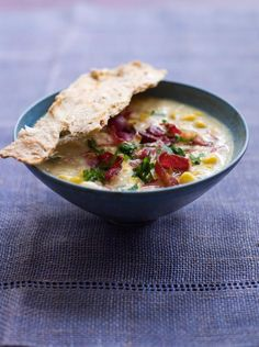 corn chowder with a homemade chilli cracker | Jamie Oliver | Food | Jamie Oliver (UK)