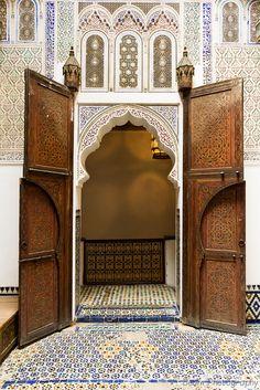 #moroccan #door Door of the Upper Courtyard at Dar Jamaï Museum    Meknès - Morocco  www.asilahventures.com