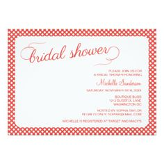 Retro Swirls Bridal Shower Announcements